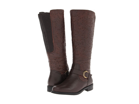 David Tate - Brave Wide Shaft (Brown) Women's Wide Shaft Boots