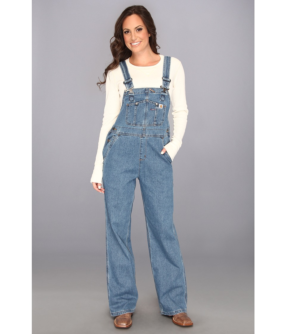 Carhartt - Denim Bib Overall Unlined (Faded Blue Indigo) Women's Overalls One Piece