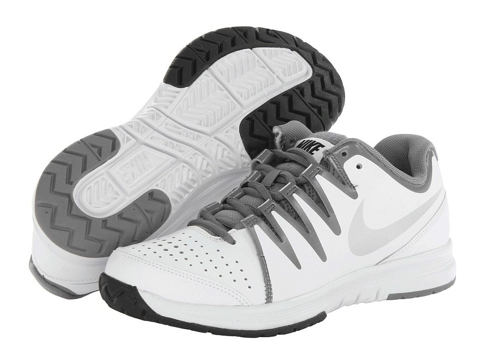 Nike - Vapor Court (White/Black/Metallic Silver) Women's Tennis Shoes