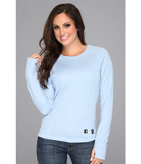Carhartt - Base Layer Crew Neck Shirt (Light Periwinkle) Women