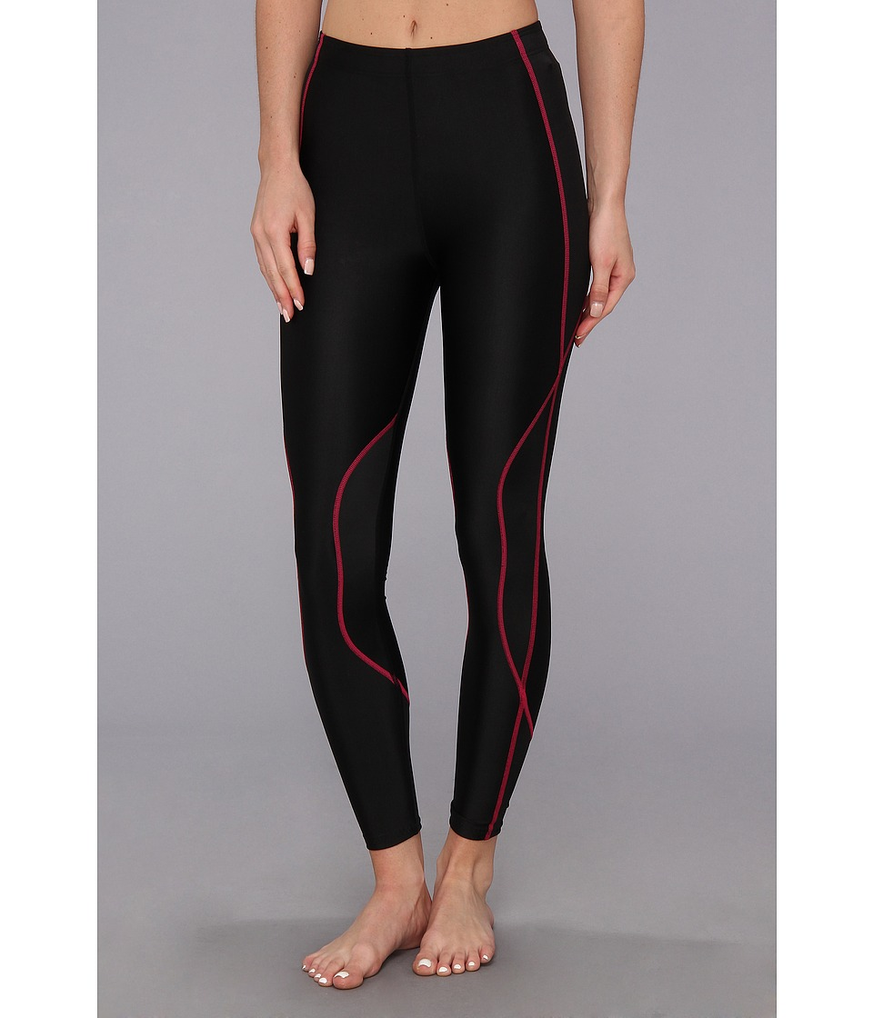 CW-X - TraXter Recovery Tights (Black/Raspberry) Women's Workout