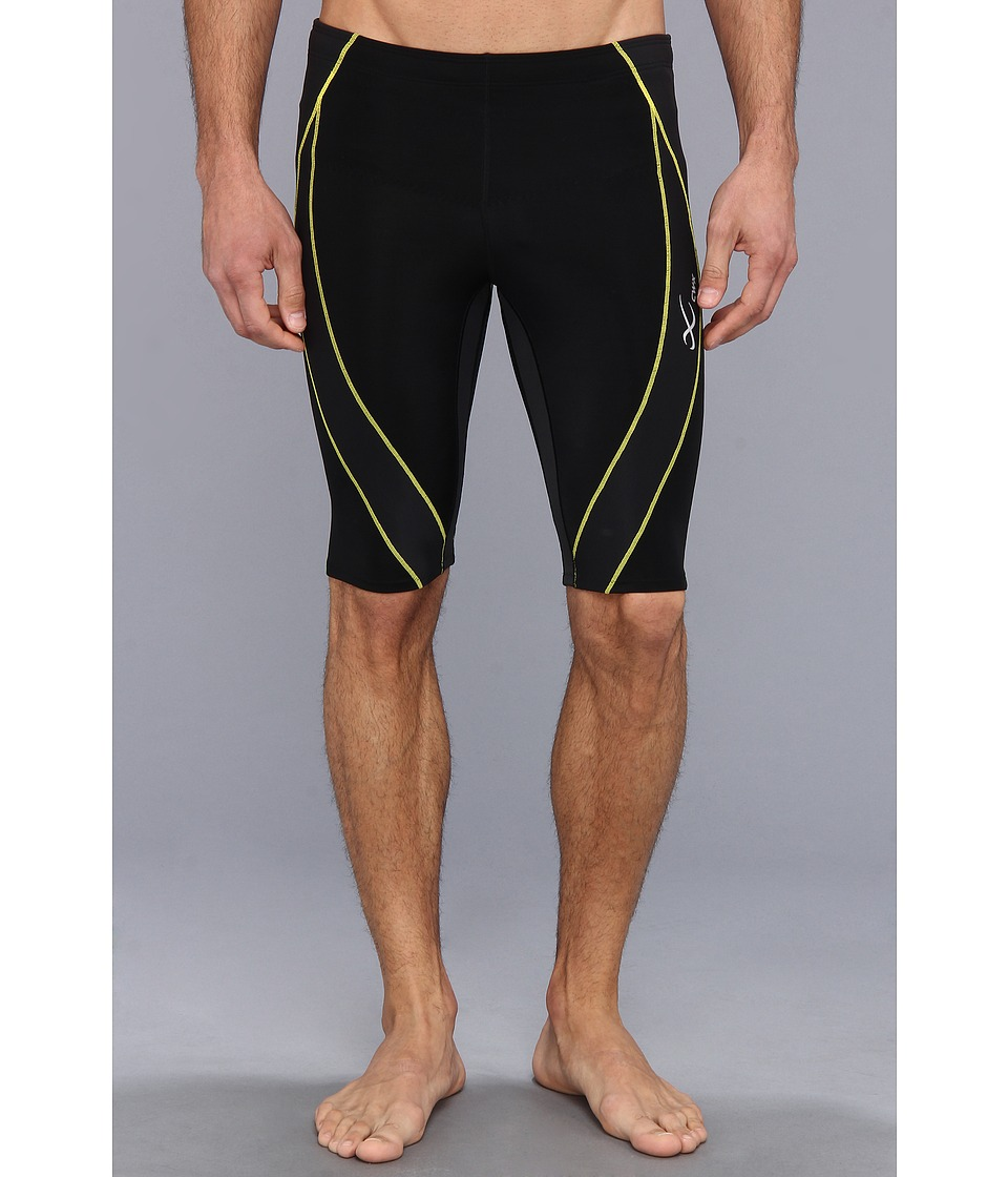 CW-X - Endurance Generator Shorts (Black/Green/Yellow) Men's Shorts