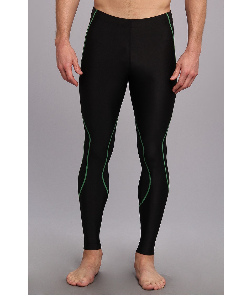 CW-X - TraXter Recovery Tights (Black/Lime) Men's Workout