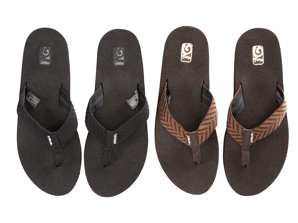 Teva - Mush II 2-Pack (Fblc/Fronds Brown) Women's Sandals