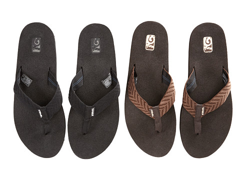 Teva - Mush II 2-Pack (Fblc/Fronds Brown) Women's Sandals