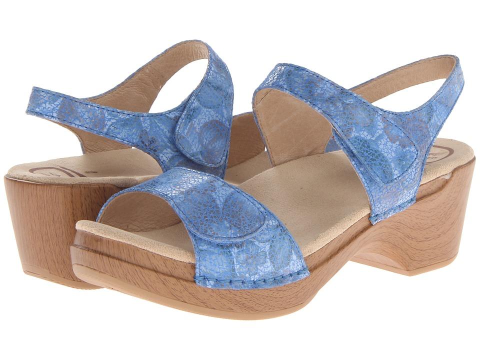 Dansko - Sonnet (Blue Floral) Women's 1-2 inch heel Shoes