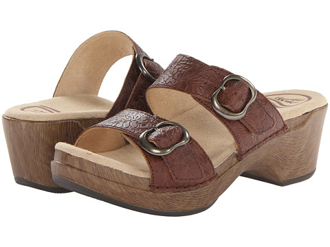 Dansko - Sophie (Brown Floral Tooled) Women's Sandals