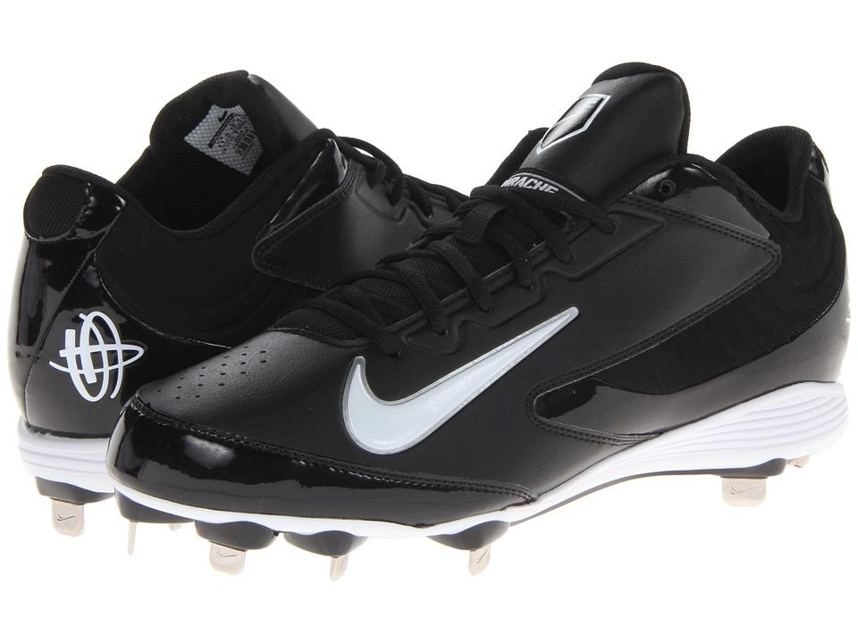 Nike - Huarache Strike Low Metal (Black/White) Men's Cleated Shoes