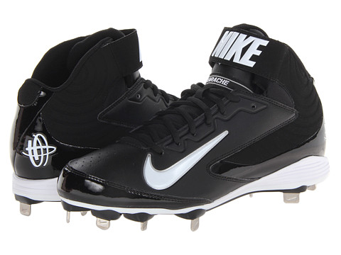 Nike - Huarache Strike Mid Metal (Black/White) Men's Cleated Shoes