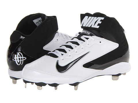 Nike - Huarache Strike Mid Metal (White/Black) Men's Cleated Shoes