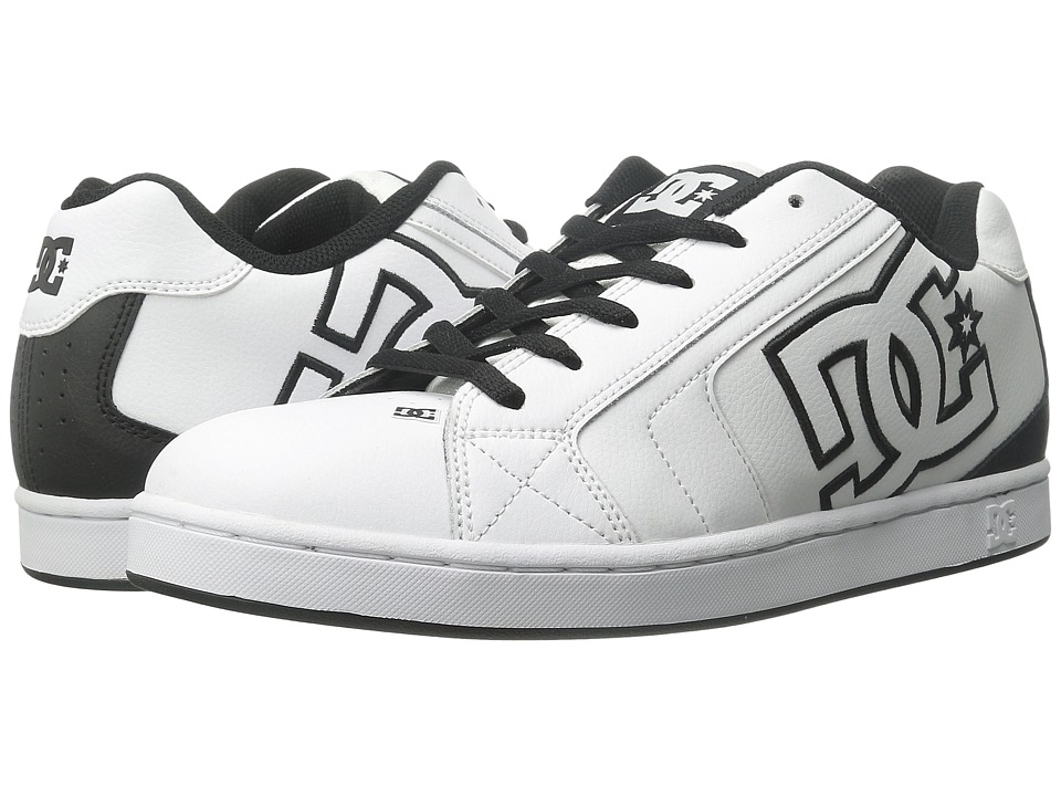 DC - Net (White/Black Basic) Men's Skate Shoes