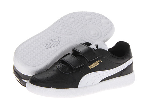 Puma Kids - Icra Trainer V (Toddler/Little Kid/Big Kid) (Black/White/Team Gold) Boy's Shoes
