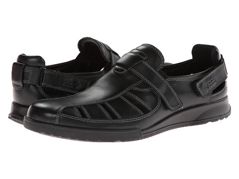 ECCO - Transporter (Black Luxe) Men's Shoes