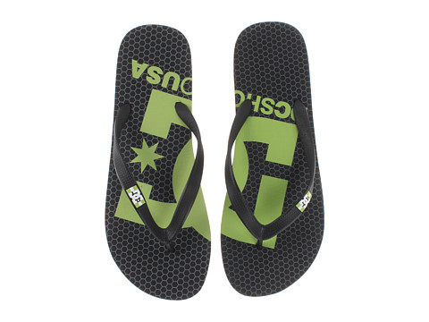 DC - Spray Logo (Black/Soft Lime) Men's Skate Shoes
