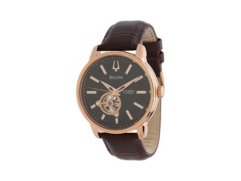 Bulova Mens Mechanical - 97A109 (Rose Gold) Watches