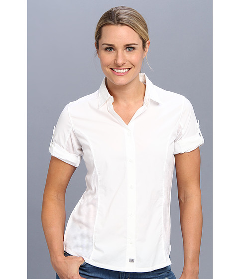 Merrell - Claire Button Up (White) Women's Long Sleeve Button Up