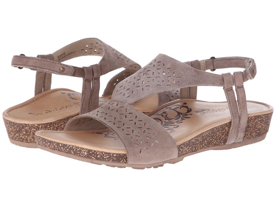 Aetrex - Sandalista Melanie Adjustable Quarter Strap (Taupe) Women's Sandals