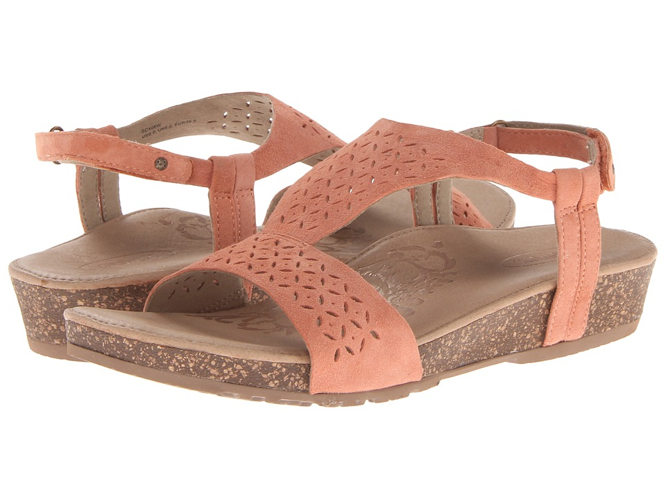 Aetrex Sandalista Melanie Adjustable Quarter Strap (Dusty Orange) Women