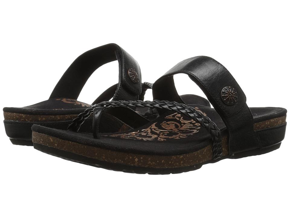 Aetrex - Sandalista Lena Adjustable Thong (Black) Women's Sandals
