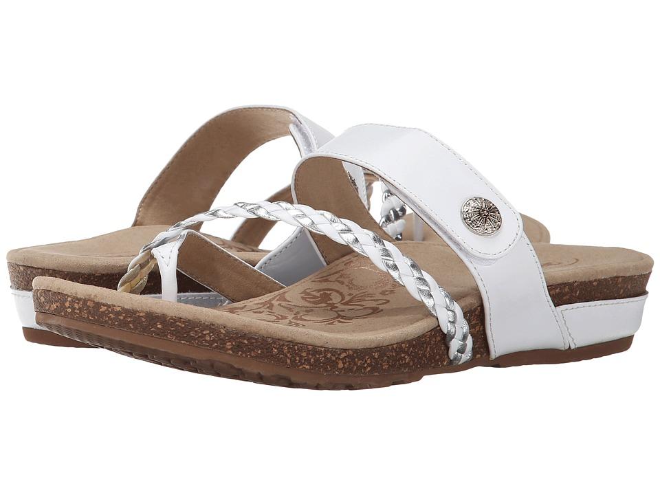 Aetrex Sandalista Lena Adjustable Thong (White) Women