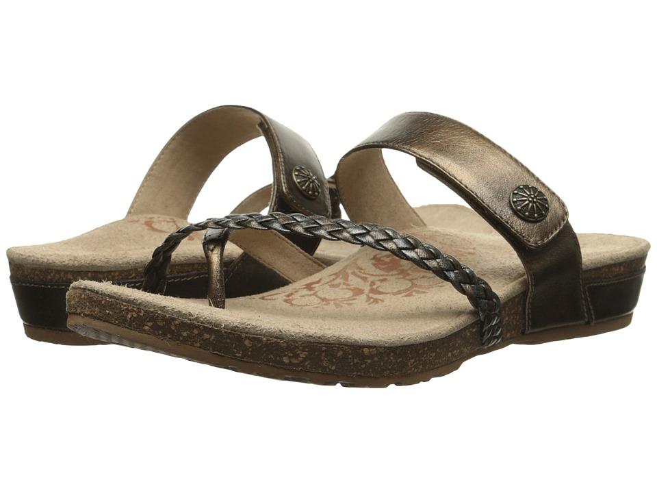 Aetrex - Sandalista Lena Adjustable Thong (Bronze) Women's Sandals