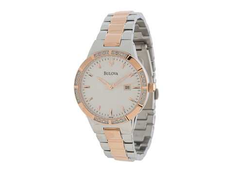 Bulova - Womens Diamonds - 98R169 (Rose Gold) Analog Watches