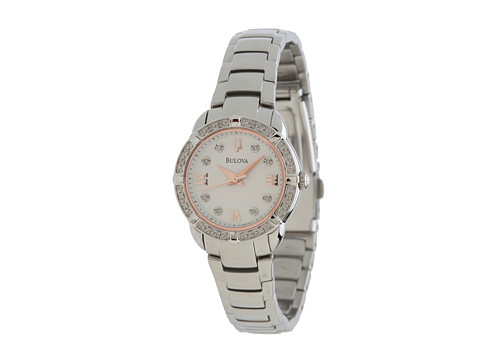 Bulova Womens Diamonds - 96R176 (White) Analog Watches