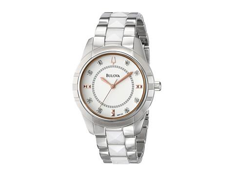 Bulova Womens Diamonds - 98P135 (White) Analog Watches