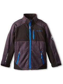 SALE! $15 - Save $45 on Weatherproof Kids Softshell Jacket w Fleece Backing (Big Kids) (Black Blue) Apparel - 75.00% OFF $60.00