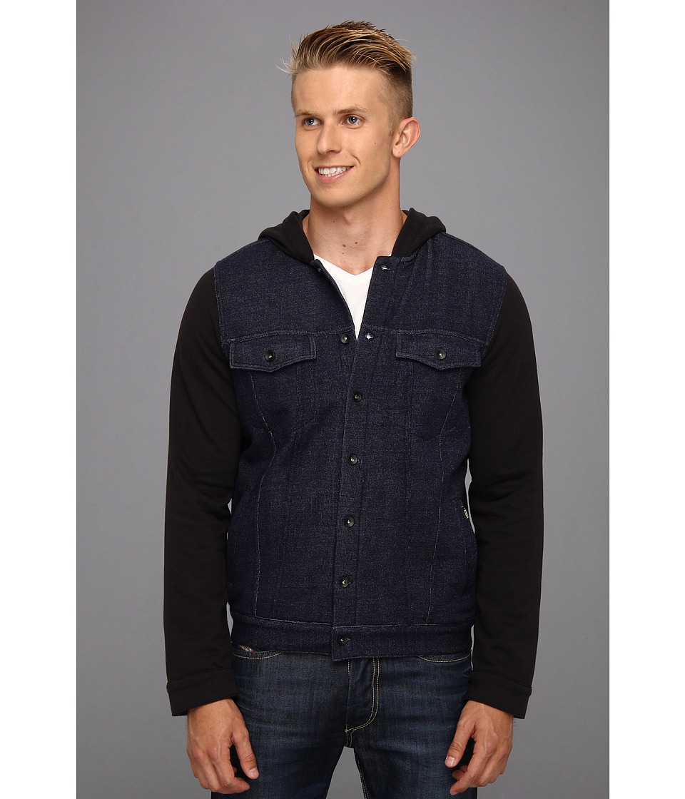 Vans - Hacksaw Fleece Hoodie (Midnight Navy) Men's Fleece