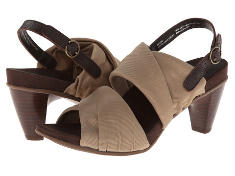 Aetrex - Essence Jamie Double Band Stretch Heel Sandal (Taupe) Women's Sandals