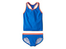Nike Kids Core Solid Racer Back Tankini And Brief (Big Kids) (Photo Blue) Girl's Swimwear Sets