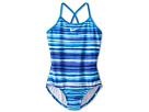 Nike Kids Tie Dye Stripe Cross Back Tank (Big Kids) (Photo Blue)