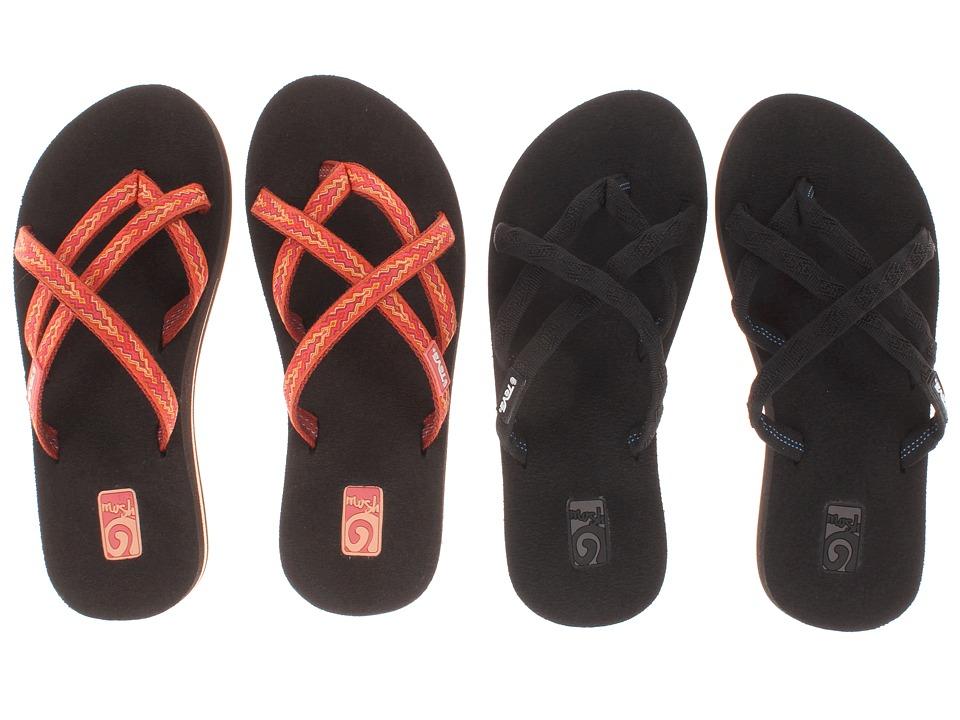 Teva - Olowahu 2-Pack (Mbob/Softground Orange) Women