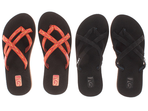 Teva - Olowahu 2-Pack (Mbob/Softground Orange) Women's Sandals
