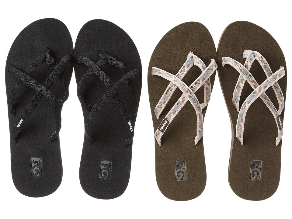 Teva - Olowahu 2-Pack (Mbob/Waterfall Antique Gold) Women
