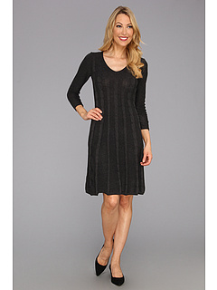 SALE! $29.99 - Save $68 on Nine West Cable Knit A Line Dress (Charcoal) Apparel - 69.40% OFF $98.00