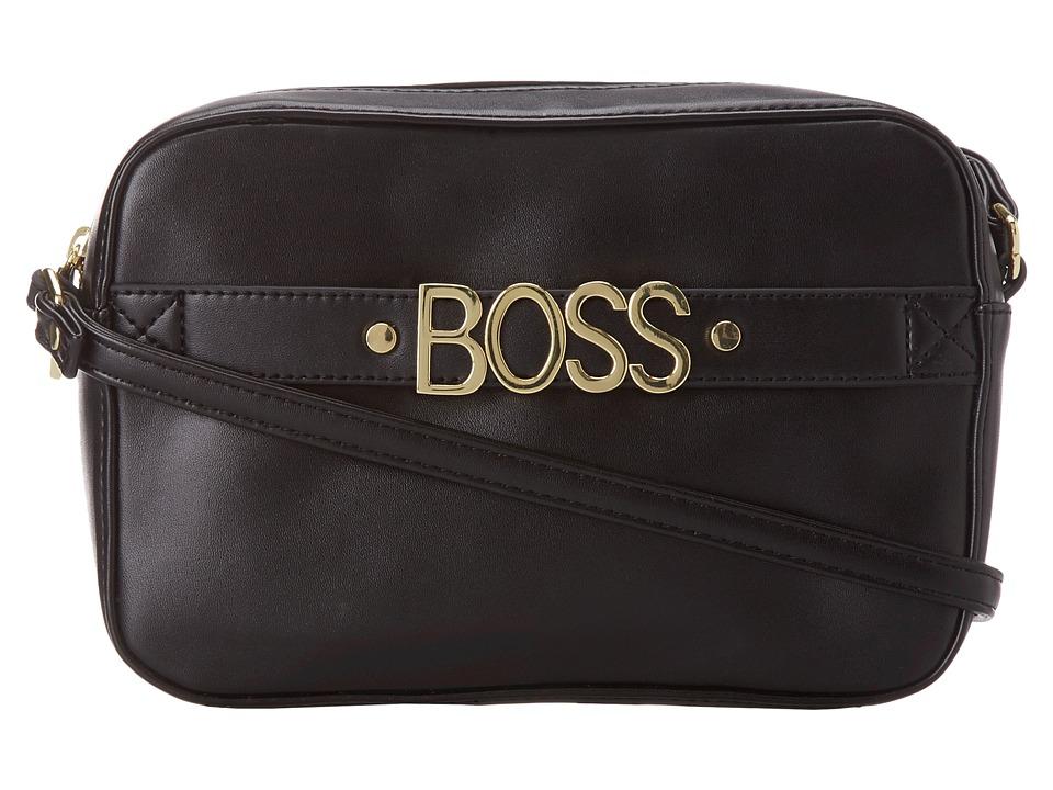 BCBGeneration - The Affirmitive Shoulder (Black) Cross Body Handbags