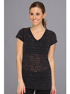 SALE! $11.99 - Save $20 on Alejandra Sky Katie V Neck Tee (Burnout Black) Apparel - 62.53% OFF $32.00