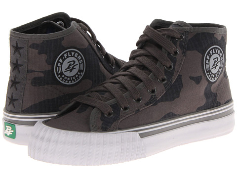 PF Flyers - Center Hi (Black Camo) Lace up casual Shoes