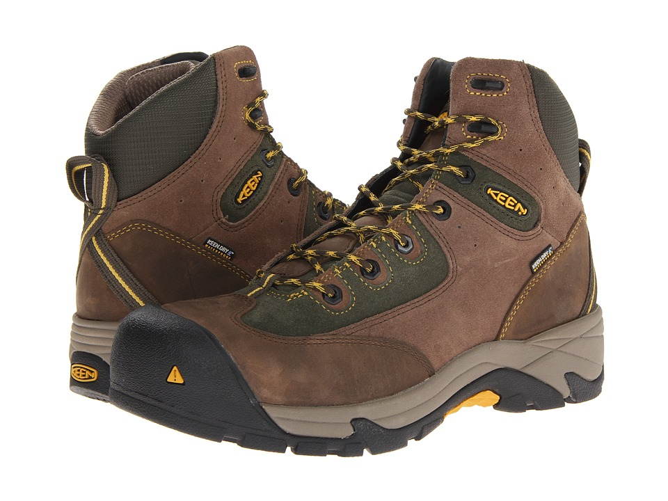 Keen Utility - Rainier Mid WP (Shitake/Forest Night) Men's Boots