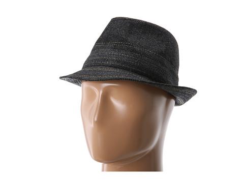 BCBGMAXAZRIA - Popstitch Menswear Fedora (Black) Fedora Hats