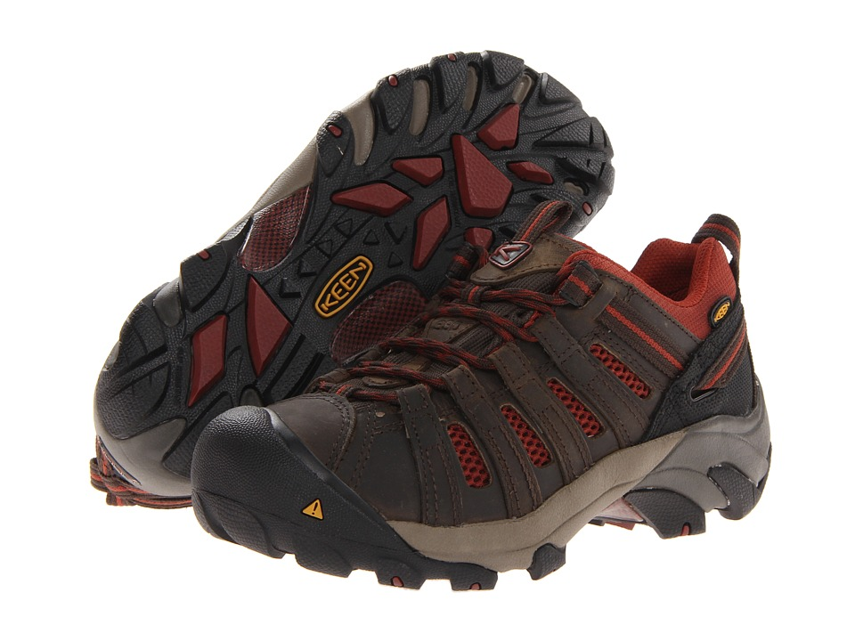 Keen Utility - Flint Low ESD Soft Toe (Black Olive) Women's Boots