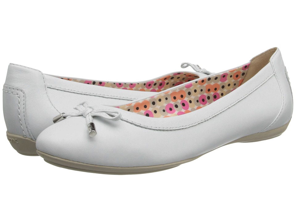 Geox - D Charlene 1 (White 2) Women's Flat Shoes