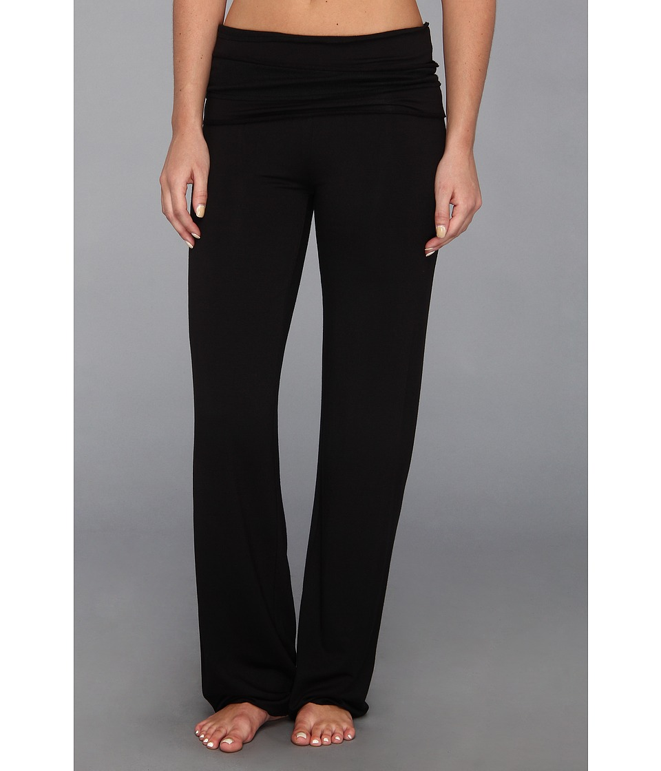 Splendid - Sleep-Over French Terry Fold-Over Pant (Black) Women's Pajama