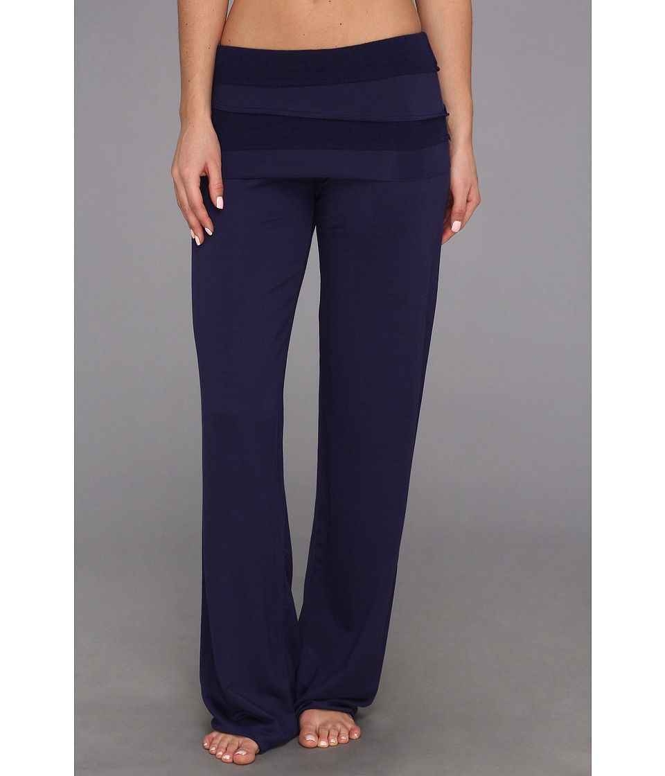Splendid - Sleep-Over French Terry Fold-Over Pant (Splendid Navy) Women's Pajama