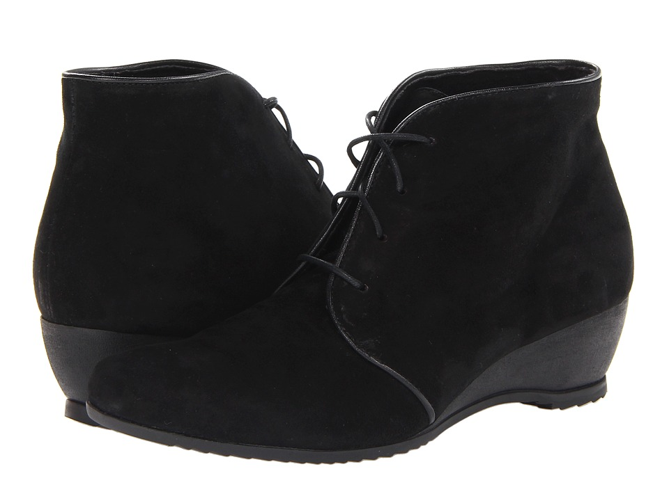 Munro American - Kara (Black Suede) Women's Lace-up Boots