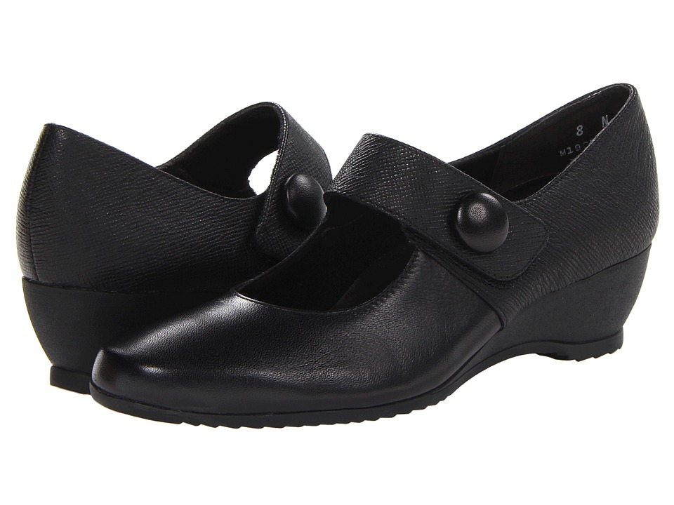 Munro American - Jenna (Black Kid/Black Texture) Women's Shoes