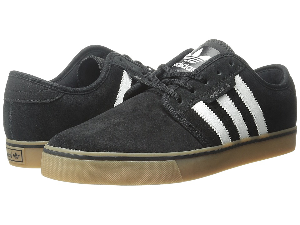adidas - Seeley (Black/Running White/Gum) Men's Skate Shoes