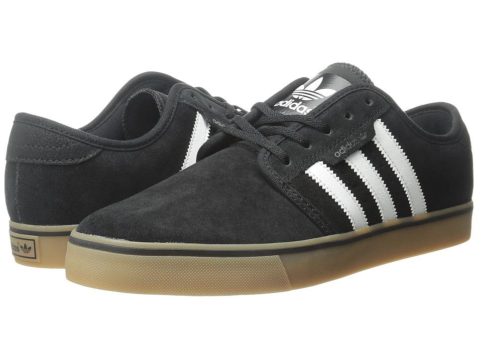 adidas - Seeley (Black/Running White/Gum) Men's Skate Shoes